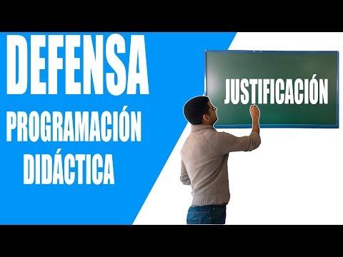 2. JUSTIFICACIÓN Defensa Programación Didáctica Oposiciones