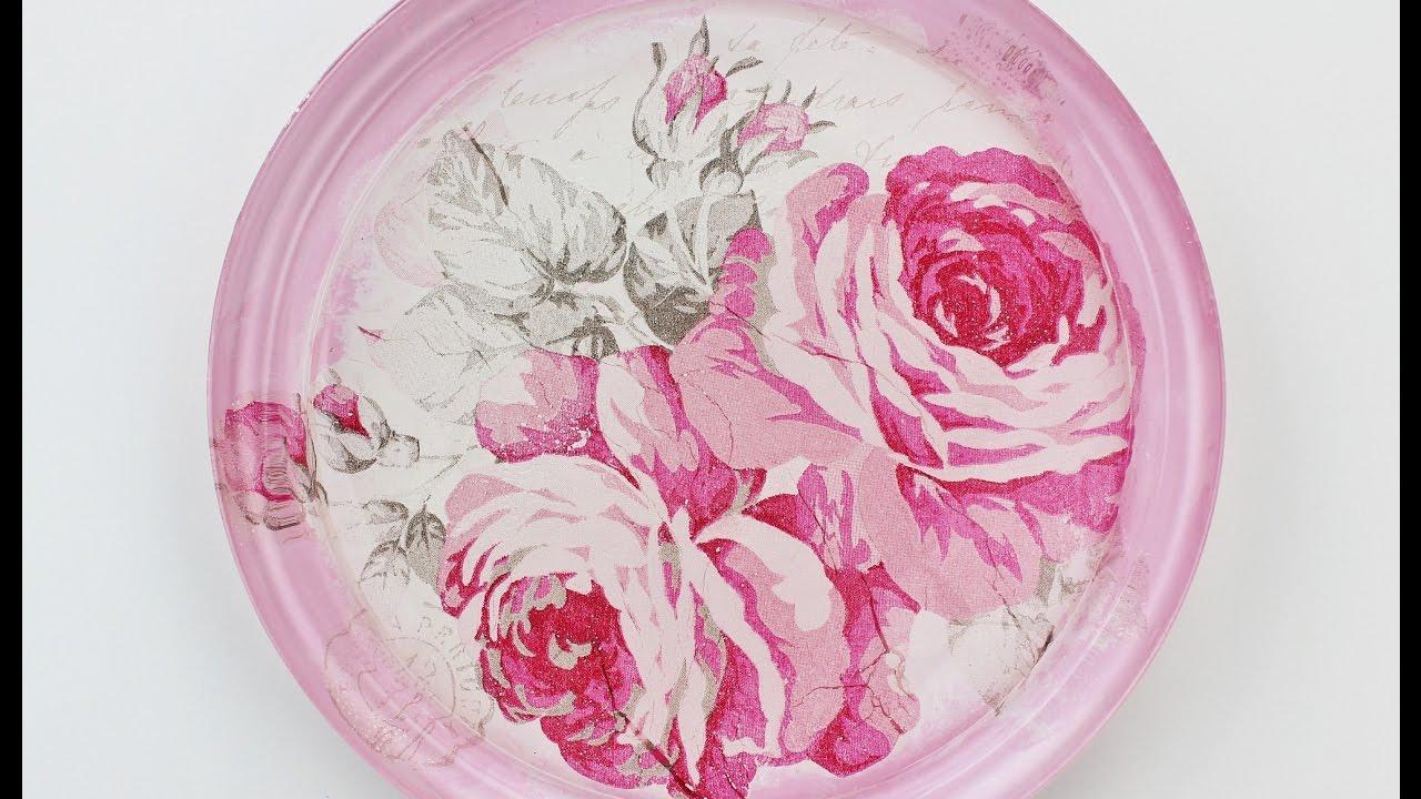 Decoupage glass plate , diy decoupage plates , Decoupage Tutorial ,  Decoupage for beginners