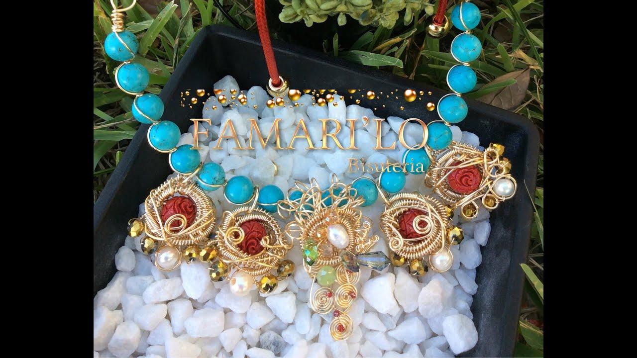 093bf50c43aa Collar con dijes en Coiling (bisuteria) Aalambrismo