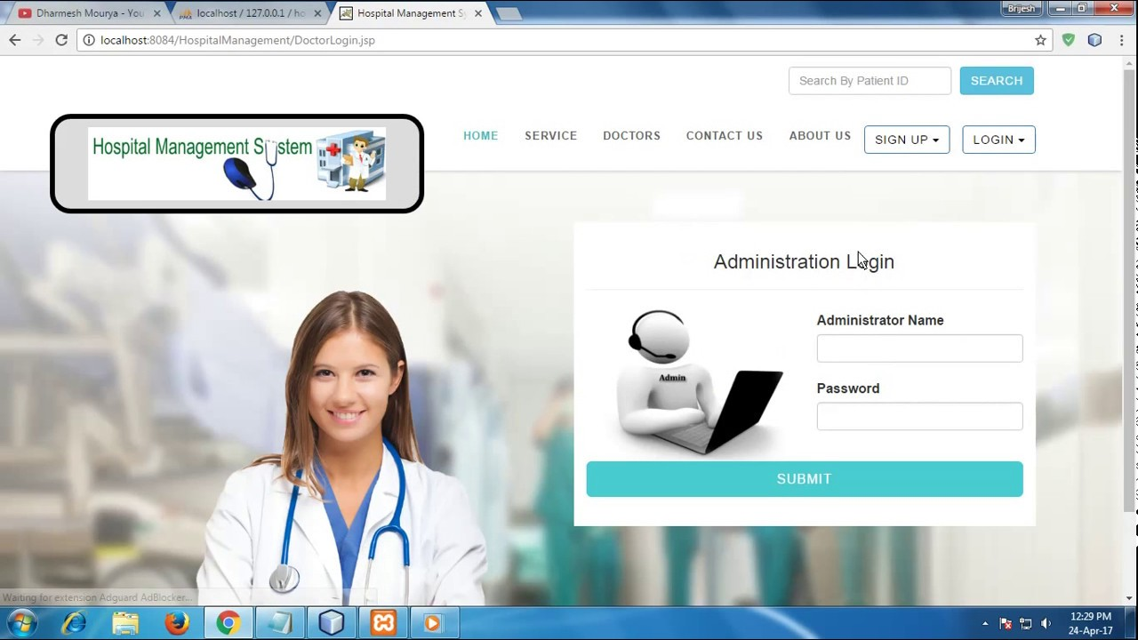 Hospital Management System Project In Java Youtube