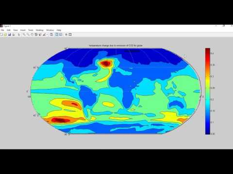 Regional climate response to CO2 emissions- World Map Visualization through Matlab