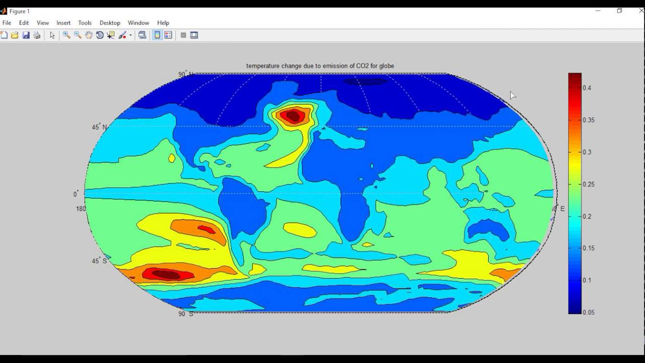 Regional climate response to CO2 emissions- World Map Visualization on