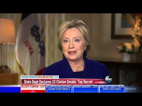 "Clinton Still Claims ""Top Secret"" Classification Is Part Of ""Interagency Dispute"""