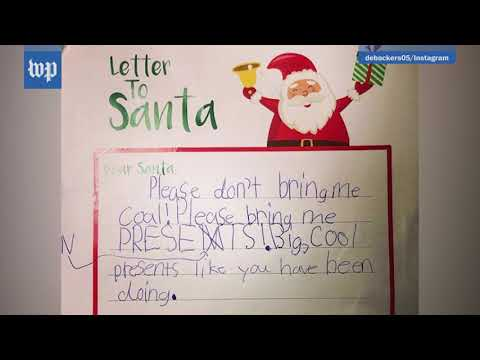 'Santa, let's get down to business': Kids holiday letters to make you laugh