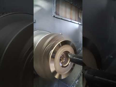 Cnc shaving clean face on casting brass