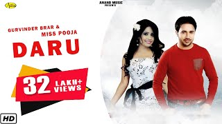 Daru Gurvinder Brar & Miss Pooja [ Official Video ] 2012 - Anand Music