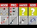 Minecraft Battle: SPACE WEAPONS CRAFTING ! NOOB vs PRO vs HACKER vs GOD in Minecraft Animation