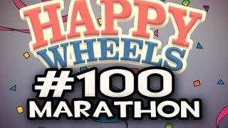 Happy Wheels w/Nova Ep.100 MARATHON - It Keeps Happening + Brad Phusion