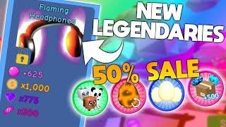 AMAZING NEW LEGENDARIES (50% OFF SALE) | ROBLOX Bubble Gum Simulator Update 12