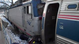 Amtrak Engine Switched in New Haven, CT Part 3