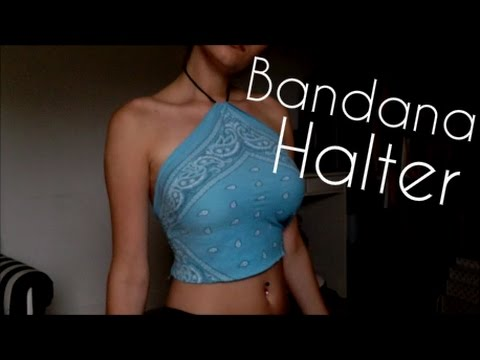 77df21a766 DIY Bandana Halter Top - YouTube