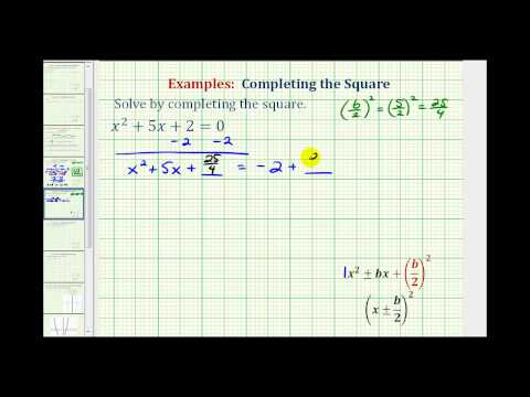 Ex 2:  Completing the Square - Real Irrational Solutions