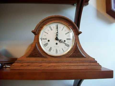 howard miller worthington oak mantel clock - Howard Miller Mantel Clock