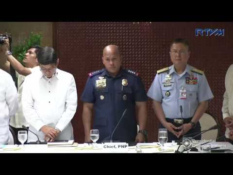 Joint Armed Forces of the Philippines – Philippine National Police Command Conference 6/1/2017
