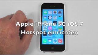 iPhone 5 5C 5S iOS 7 Anleitung: Hotspot einrichten