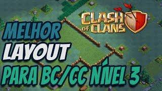 MELHOR LAYOUT PARA BASE DO CONSTRUTOR NÍVEL 3 NO Clash of Clans