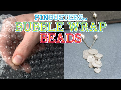 How To Make A Beaded Necklace From Bubble Wrap // CHECK THIS OUT!