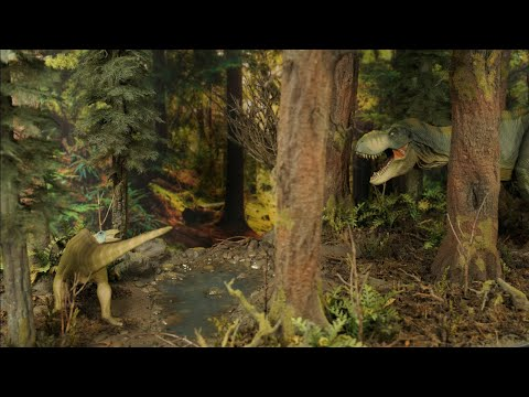 Building The Ultimate T - Rex Diorama - Realistic Redwood Forest Scenery