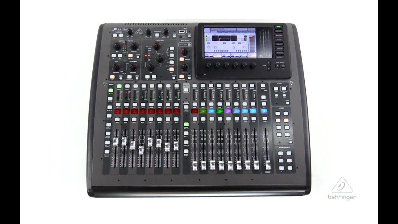 X32 compact 40 input 25 bus digital mixer with 16 for Firewire mixer motorized faders