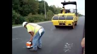 Intelligent Compaction (INDOT Demo) Part 2 of 3: HMA IC Demo