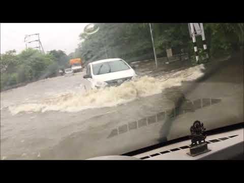 Tata Nano in flood water