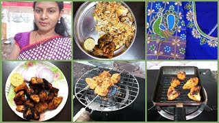 #DIML#July20 Friday Vlog/Vegetable Dum Biriyani/Tandoori Smokey Grilled Chicken/Maggam Work Blouses