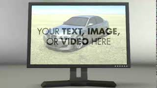 Rotating Monitor with Custom Message/Video | After Effects Project Files - Videohive template