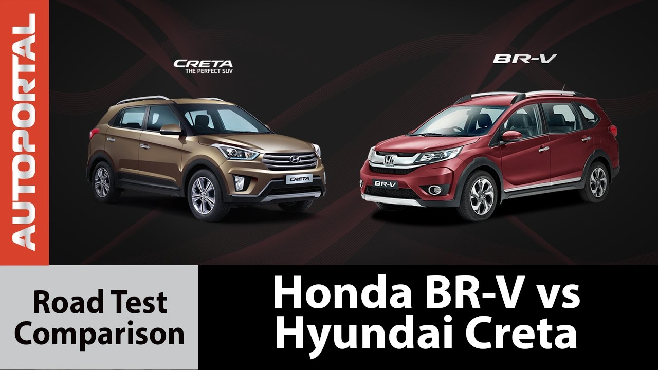 Honda Br V Vs Hyundai Creta Test Drive Comparison Autoportal Youtube