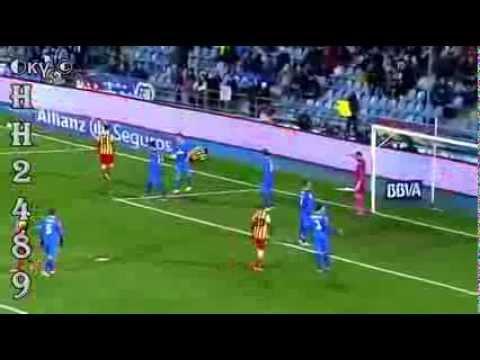 Lesão em Neymar JR no jogo de Getafe vs Barcelona na Copa del Rey