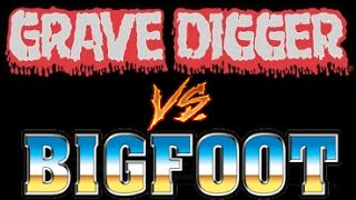 Grave Digger vs Bigfoot