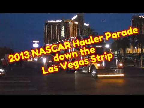 2013-nascar-hauler-parade-down-the-las-vegas-strip