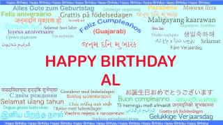 Al   Languages Idiomas - Happy Birthday