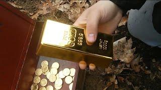✔Wykopki. Złoty strzał. Depozyt, złote monety. Gold digger. Gold coins & bar. Metal detecting