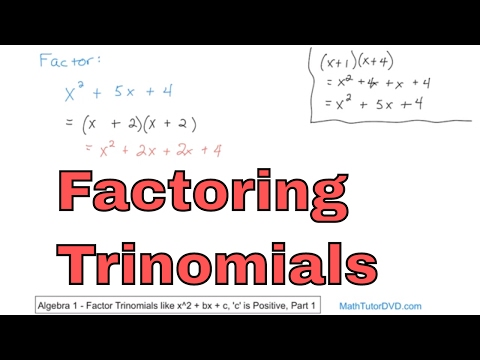Factoring Trinomials In Algebra - Learn How To Factor Trinomials Step-by-Step