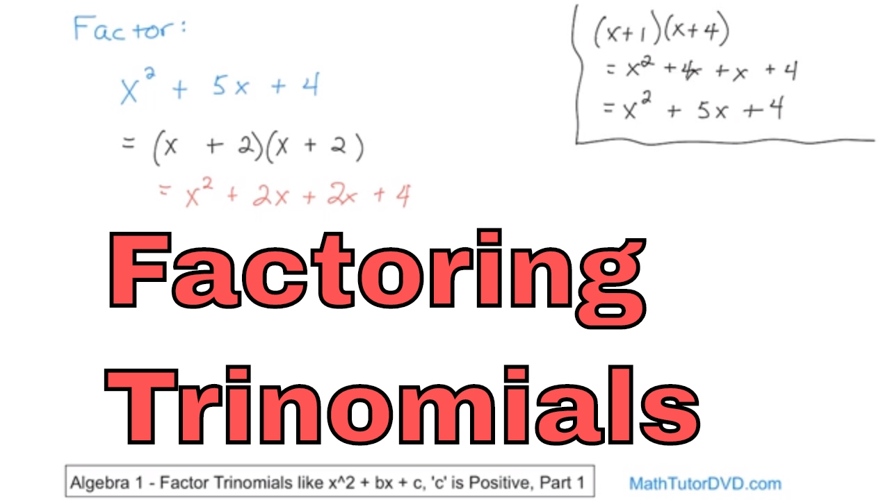 Factoring Trinomials In Algebra  Learn How To Factor Trinomials  Stepbystep