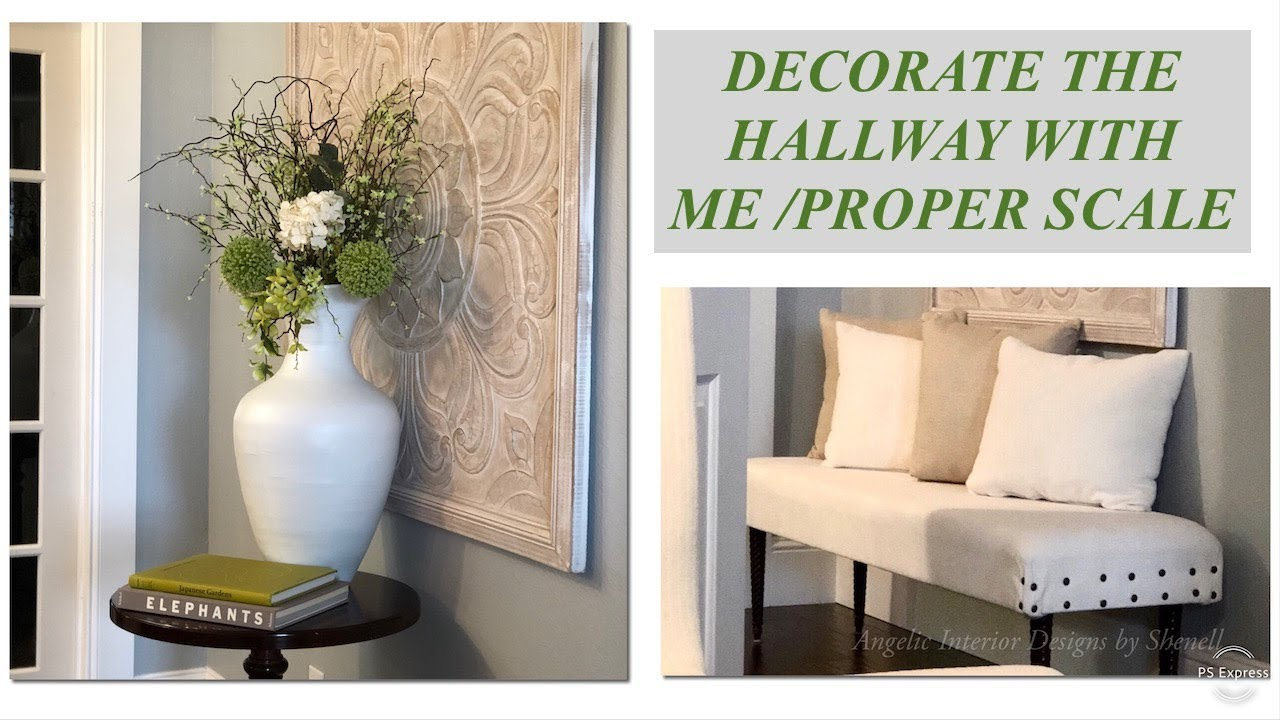 Decorate with me hallway edition spring proper scale with