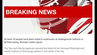 BREAKING: 10 Killed in Explosions in Russian Underground Stations