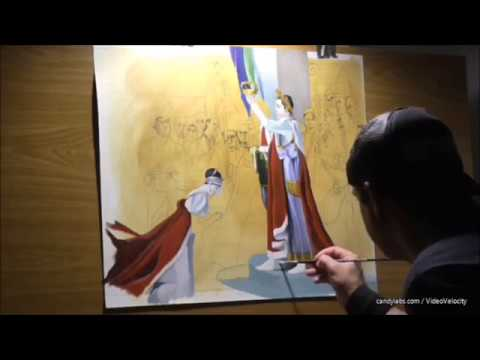 "Copy of ""The coronation of Napoleon"",oil on paper,work on progress..."