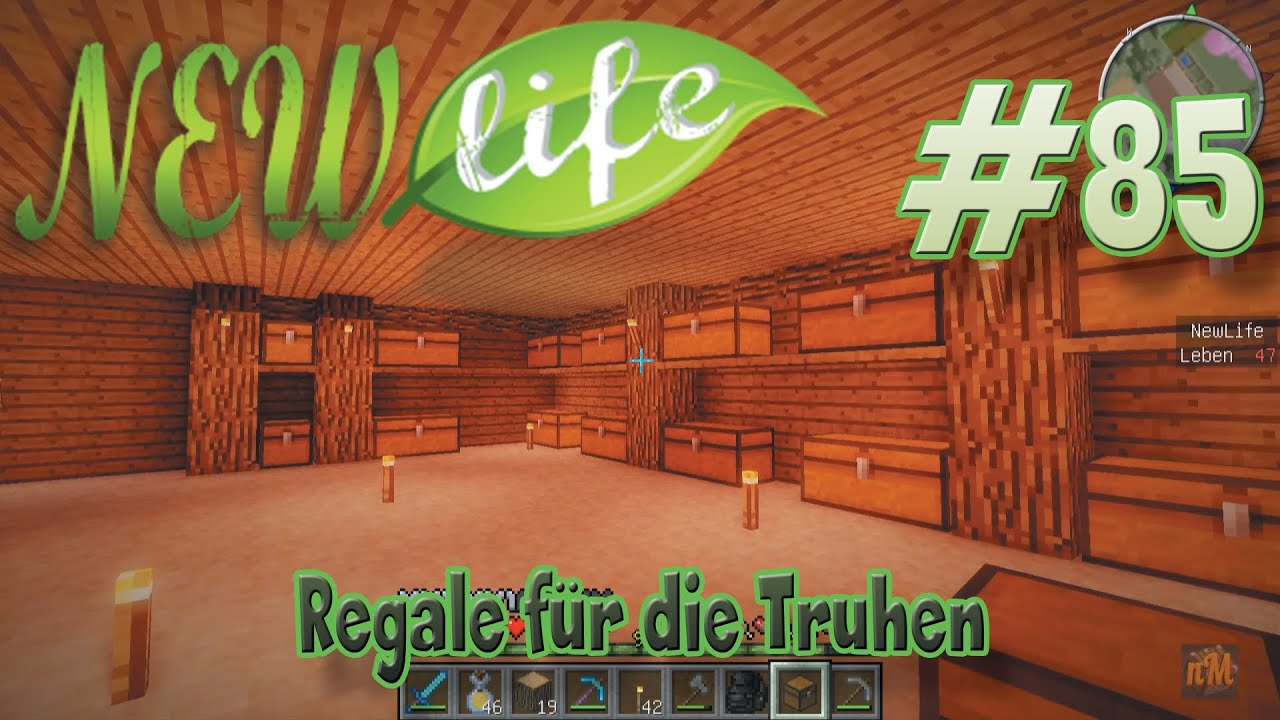 Regal Bauen Minecraft Regale Für Die Truhen In Minecraft New Life 85