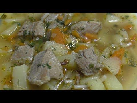 Как сварить суп из свинины с картошкой и вермишелью