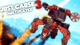 ON A DES SUPER ROBOTS ! (JUST CAUSE 3 Multiplayer Fun)
