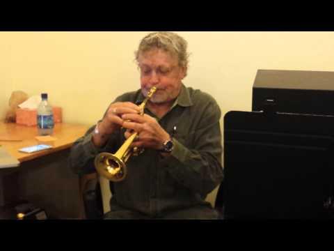 Piccolo trumpet. Bach