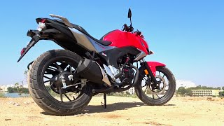 #Bikes@Dinos: Honda CB Hornet 160R First Ride, Walkaround Review (Black, Red colours)