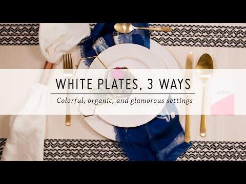White Plates, 3 Ways   Table Settings   DIY Home Decor   Mr Kate