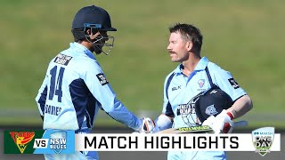 Blues hold nerve in top-of-the-table clash | Marsh One-Day Cup 2020-21