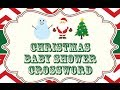 Christmas Baby Shower Games - Free Christmas Baby Shower Printables