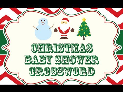 Christmas Baby Shower Games Free Christmas Baby Shower Printables