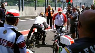 Ferry Brouwer and Yamaha-Classic-Racing-Team at Spa bikers classics 2012
