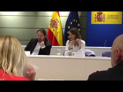 Pablo Iglesias y Yolanda Díaz, se reúnen con los sindicatos agrarios de Andalucía y Extremadura