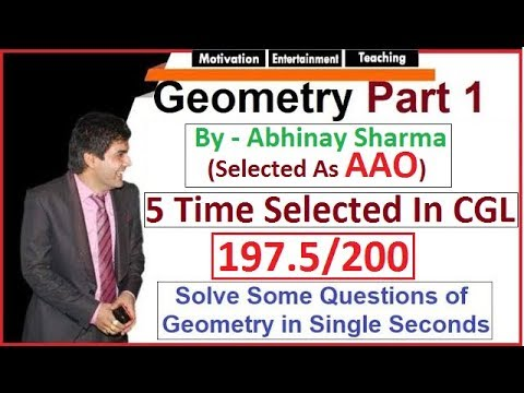 Geometry Triangles Part 1 😲 Abhinay Sir (Abhinay Maths) SSC CGL Mains 2017